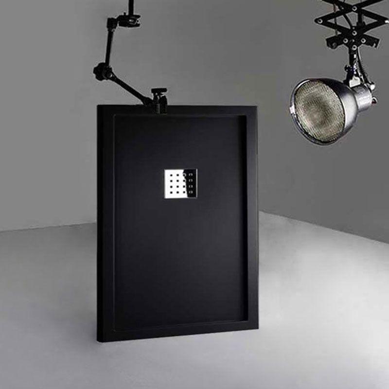Receveur en gel coat LISO ENMARCADO Noir texture sable 120x80
