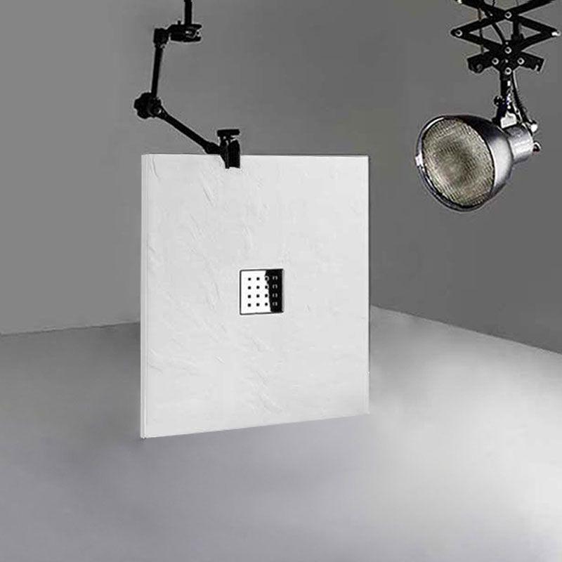 Receveur en gel coat PIZARRA Blanc 100x80 cm