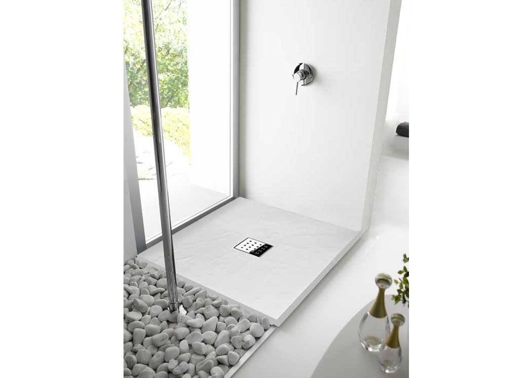receveur de douche 100x80 cm pizarra bac douche 100x80 cm blanc salledebain online. Black Bedroom Furniture Sets. Home Design Ideas