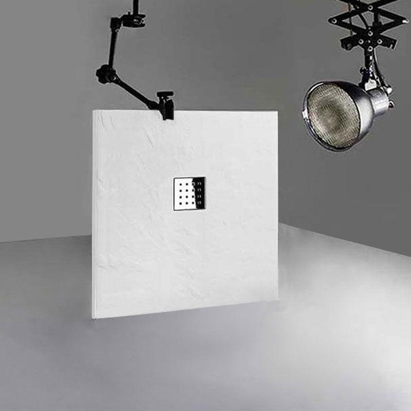 Receveur de douche en gel coat PIZARRA Blanc 100x90 cm