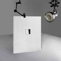 Receveur de douche en gel coat PIZARRA Blanc 120x90 cm