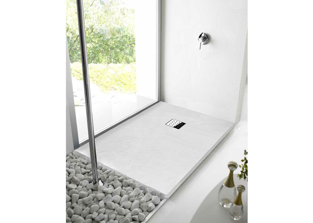 receveur de douche rectangulaire en gel coat 140x90 pizarra blanc. Black Bedroom Furniture Sets. Home Design Ideas