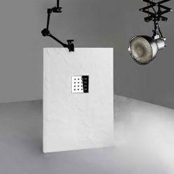 Receveur de douche en gel coat PIZARRA Blanc 120x80 cm