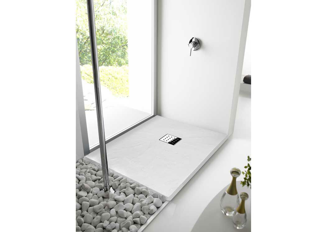 receveur de douche rectangulaire en gel coat 120x80 pizarra blanc. Black Bedroom Furniture Sets. Home Design Ideas