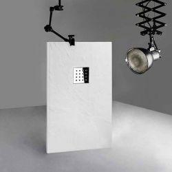 Receveur de douche en gel coat PIZARRA Blanc 140x80 cm