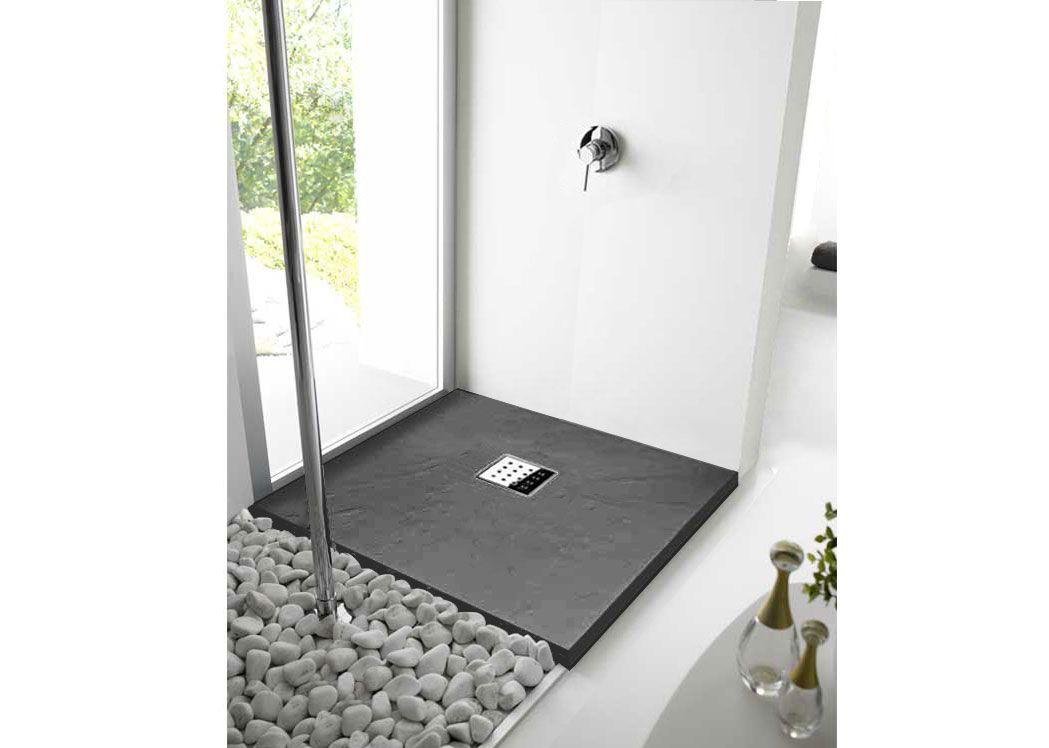 receveur de douche pizarra graphite 100x90 couleur graphite. Black Bedroom Furniture Sets. Home Design Ideas