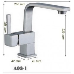 Robinet mitigeur orientable salle de bain SDA03-1