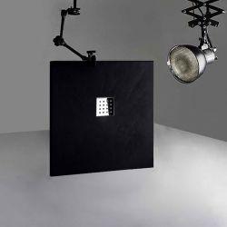 Receveur de douche en gel coat PIZARRA Noir 100 x 90 cm