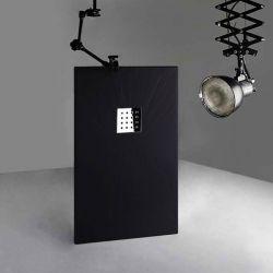 Receveur de douche en gel coat PIZARRA Noir 140 x 80 cm