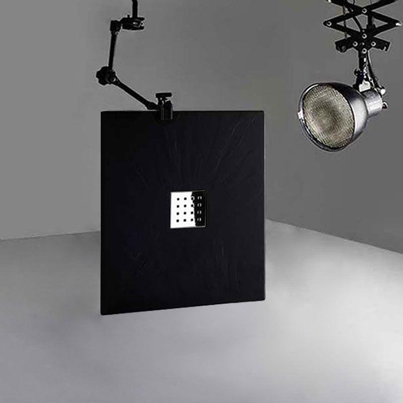 Receveur en gel coat PIZARRA Noir 100x80cm