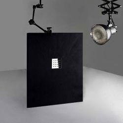 Receveur en gel coat PIZARRA Noir 120 x 90 cm