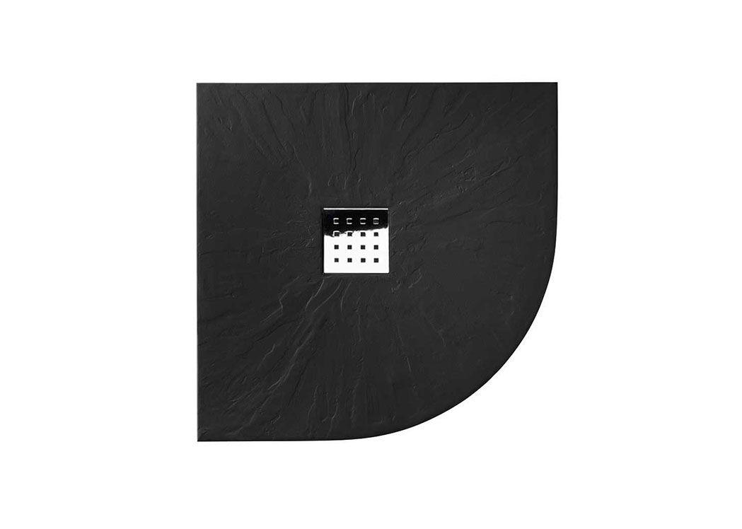 Bac A Douche 1 4 De Rond 80x80 Cm Noir Receveur De Douche