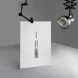 Receveur en gel coat ARDESIA Blanc 120x80 cm