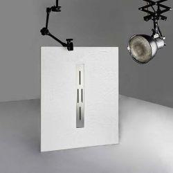 Receveur de douche extra plat en gel coat ARDESIA Blanc 120x90 cm