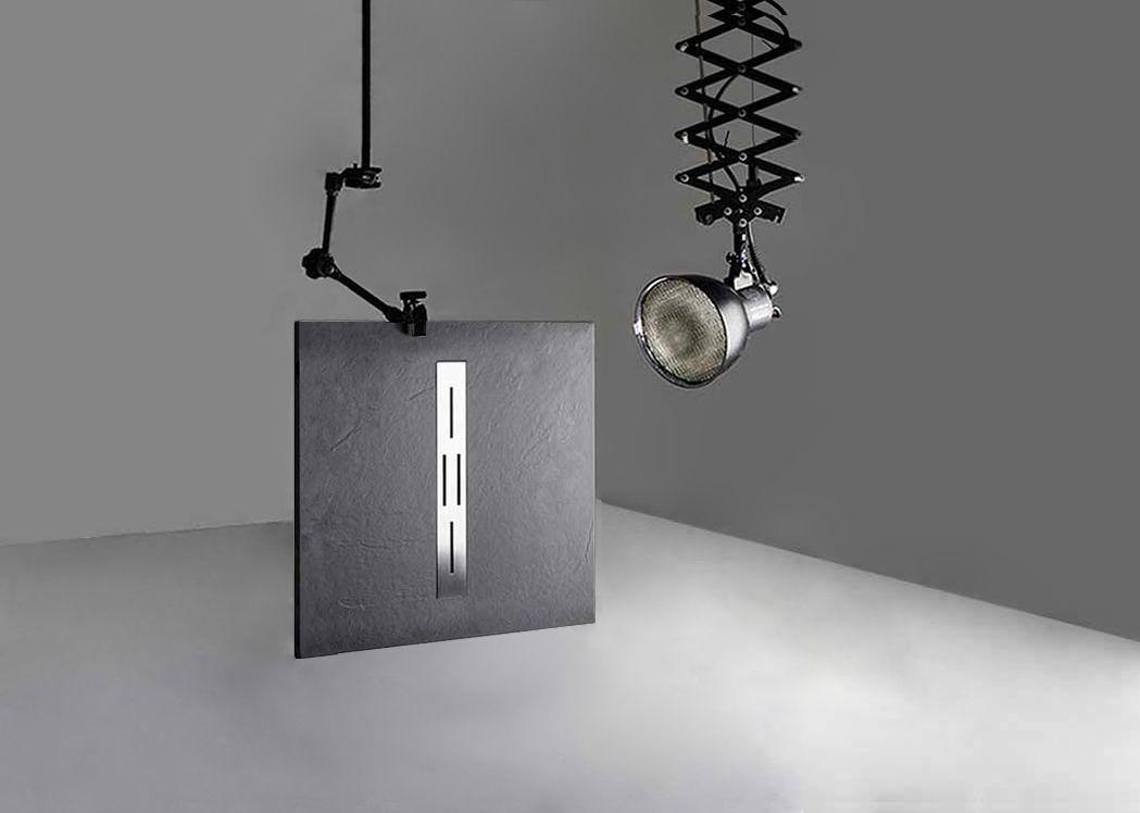 receveur de douche rectangulaire en gel coat ardesia graphite 100x90cm. Black Bedroom Furniture Sets. Home Design Ideas