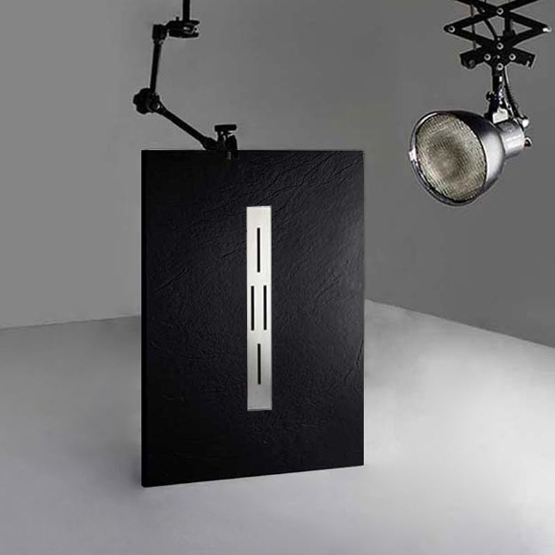 Receveur de douche noir en gel coat ARDESIA 120x80 cm