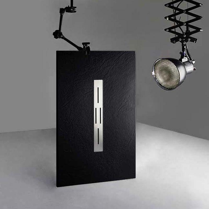 Receveur de douche en gel coat ARDESIA Noir 140x80 cm