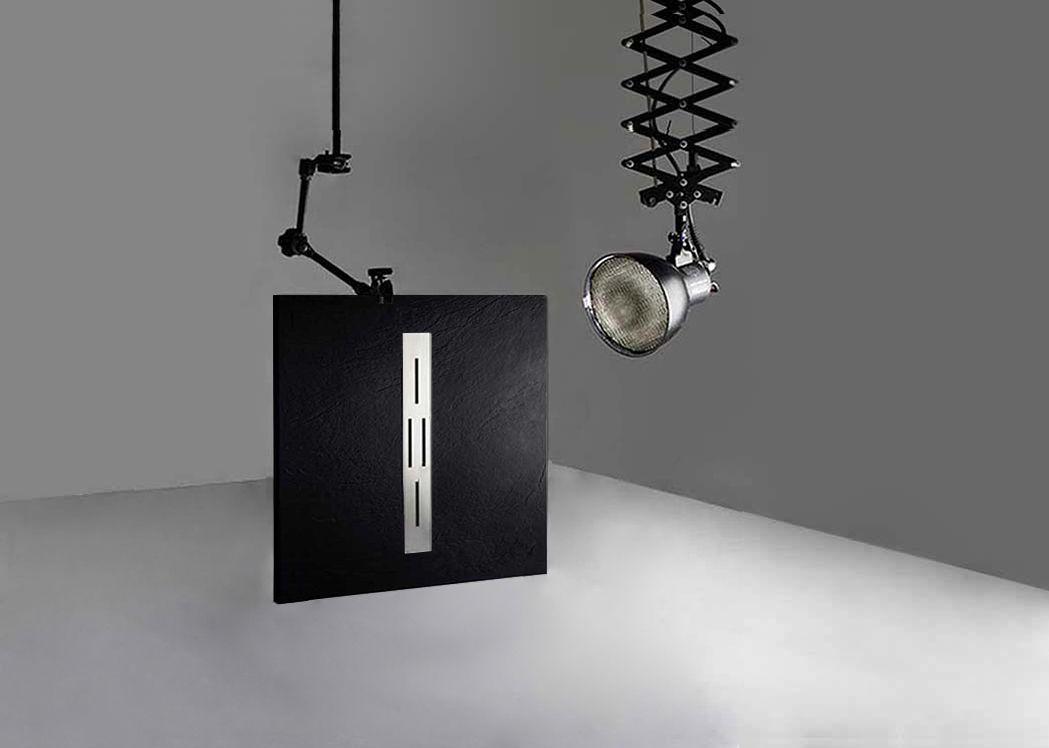 receveur de douche rectangulaire en gel coat ardesia noir. Black Bedroom Furniture Sets. Home Design Ideas