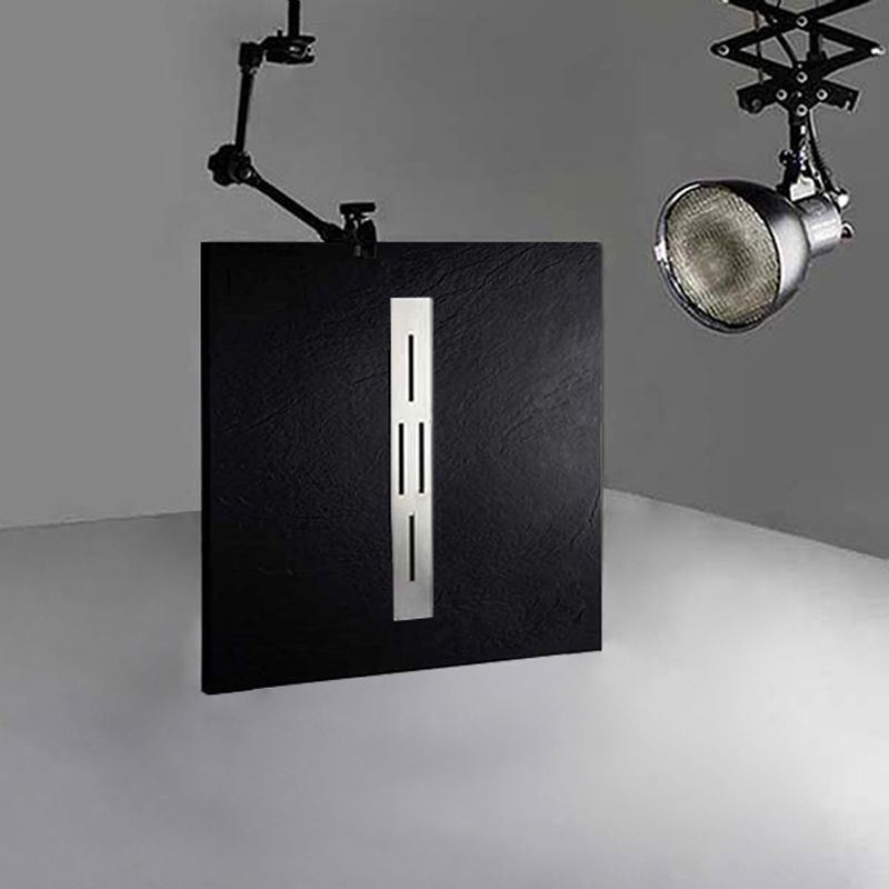 Receveur en gel coat ARDESIA Noir 100x90 cm