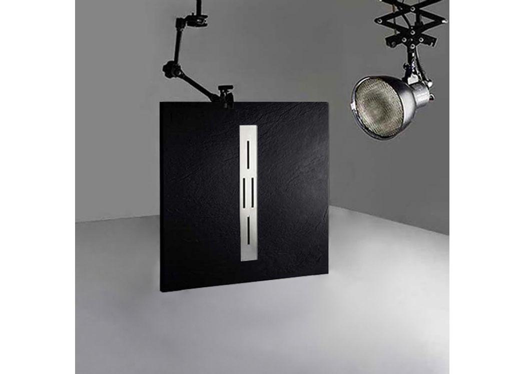 receveur de douche rectangulaire en gel coat ardesia noir 100x90cm. Black Bedroom Furniture Sets. Home Design Ideas