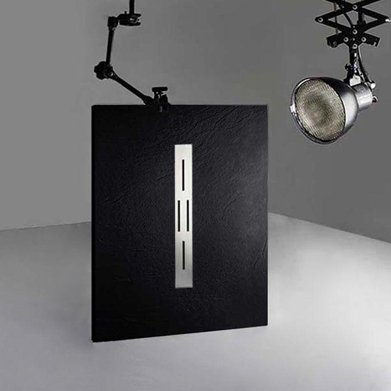 Receveur de douche en gel coat ARDESIA Noir 120x90 cm