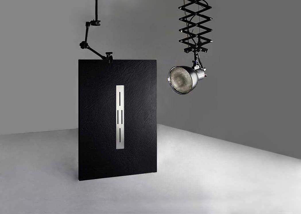 receveur de douche rectangulaire en gel coat ardesia noir 140x90cm. Black Bedroom Furniture Sets. Home Design Ideas