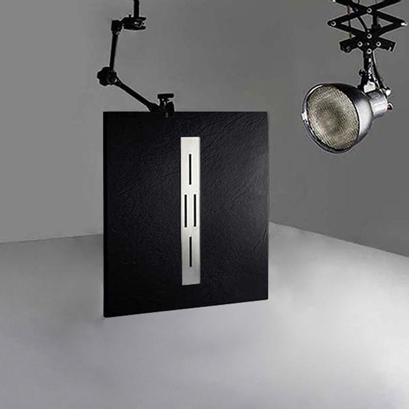 Receveur en gel coat ARDESIA Noir 100x80 cm