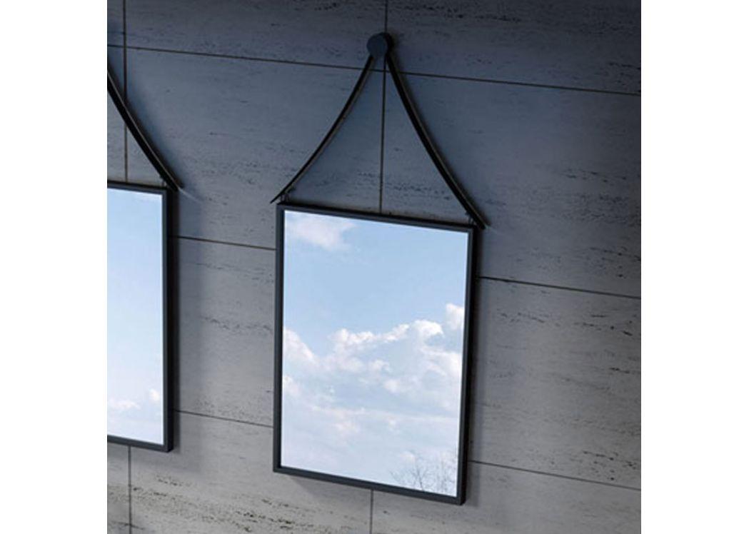 Miroir de salle de bain rectangulaire miroir rectangulaire noir miroir cadre noir - Miroir salle de bain noir ...