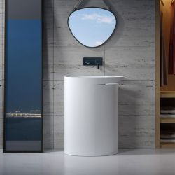 SDV25 vasque totem pour salle de bain contemporaine