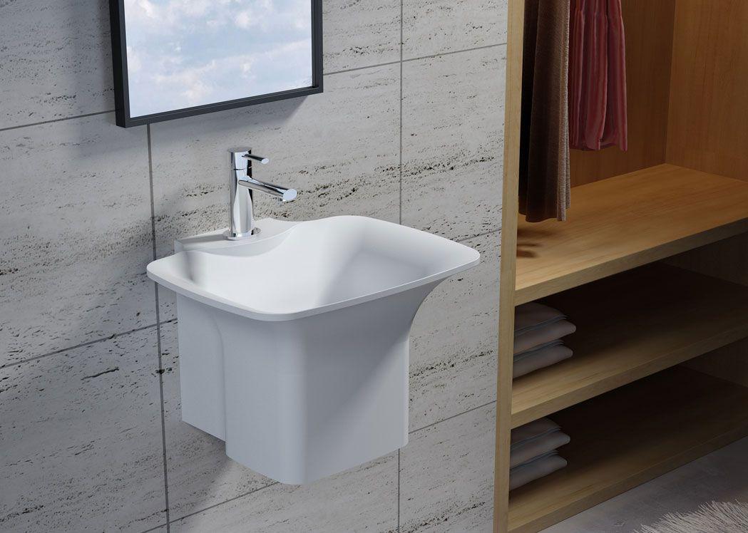 Vasque design suspendue en solid surface sdn2 - Vasque suspendue salle de bain ...