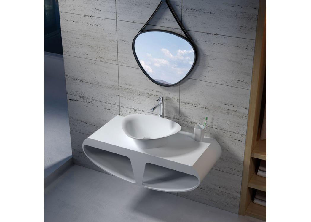 plan de toilette sdk51 vasque en triangle sdv34. Black Bedroom Furniture Sets. Home Design Ideas