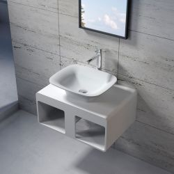 Plan de toilette SDK54 avec vasque rectangulaire SDV33