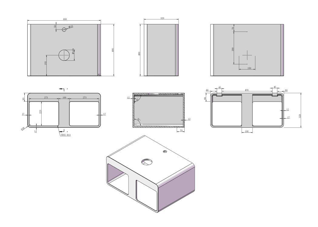 plan de toilette sdk54 vasque en triangle sdv33. Black Bedroom Furniture Sets. Home Design Ideas