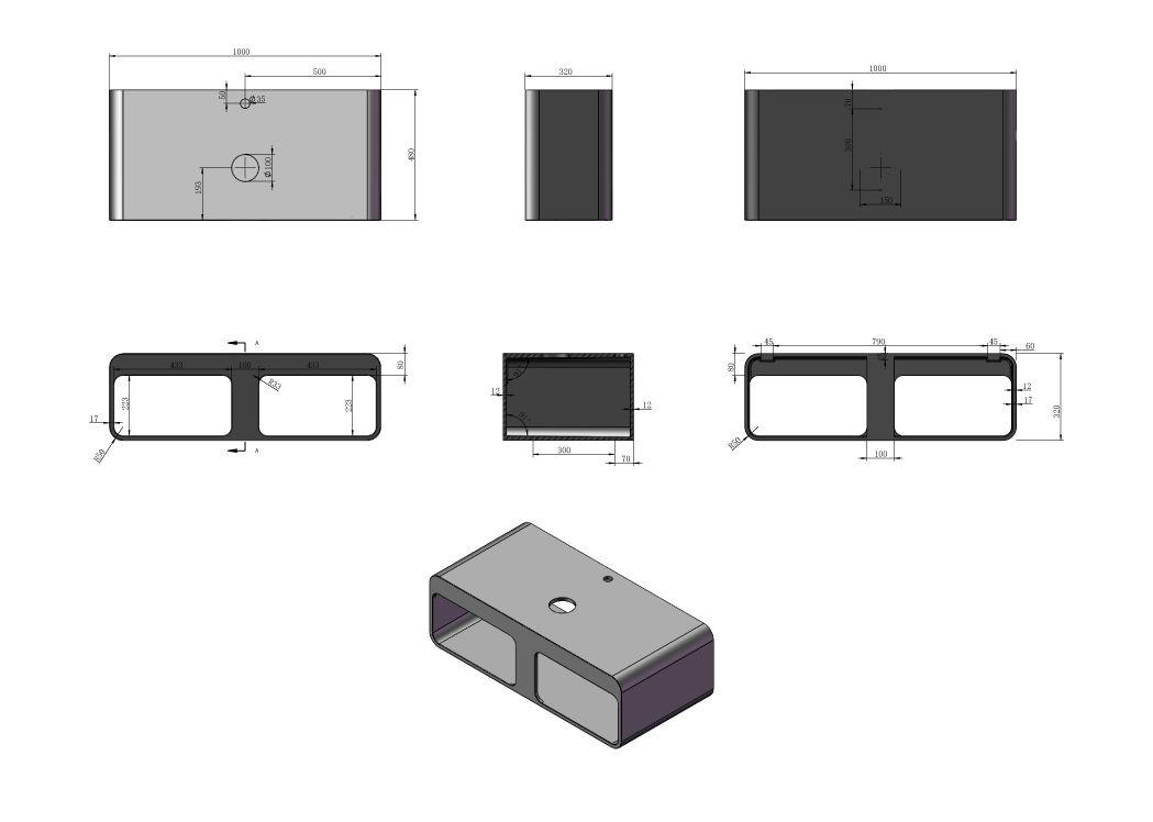 plan de toilette sdk52 vasque en rectangulaire sdv36. Black Bedroom Furniture Sets. Home Design Ideas