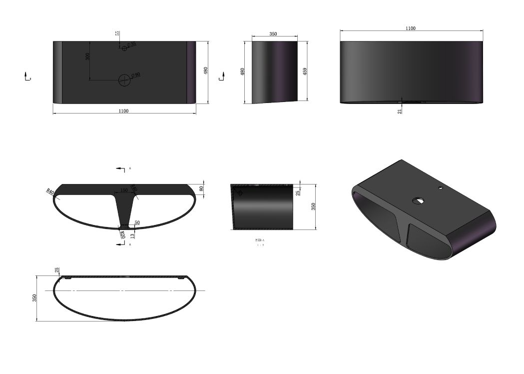 plan de toilette sdk51 vasque ovale sdv70. Black Bedroom Furniture Sets. Home Design Ideas