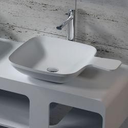 Vasque à poser cuillère carrée en solid surface SDV13