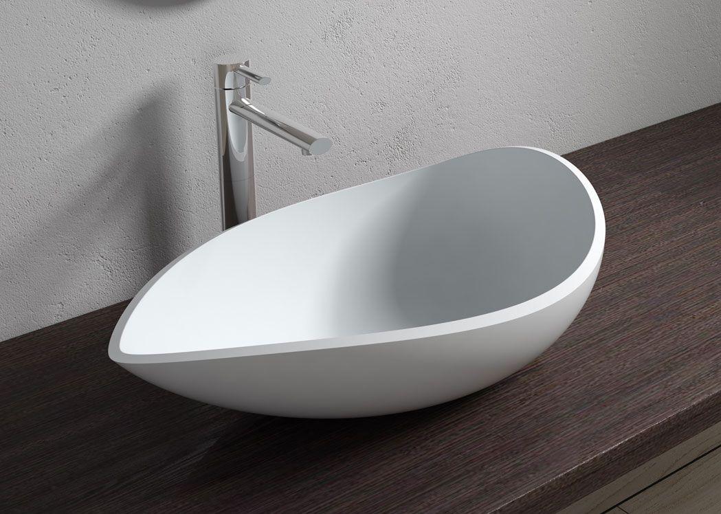 vasque en solid surface blanc mat sdv20. Black Bedroom Furniture Sets. Home Design Ideas