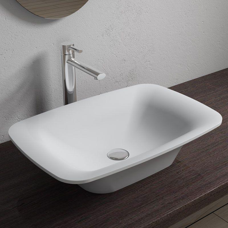 grande vasque poser rectangulaire 60x40 cm c ramique scala. Black Bedroom Furniture Sets. Home Design Ideas