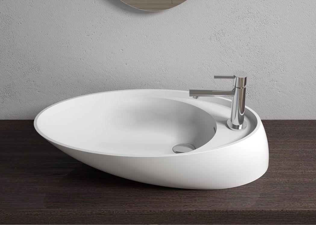 vasque design en solid surface blanc mat sdv38. Black Bedroom Furniture Sets. Home Design Ideas
