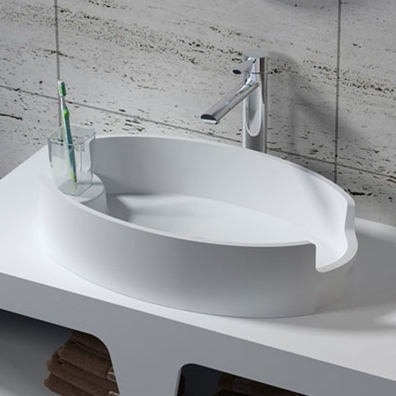 Vasque ovale design en solid surface SDV70