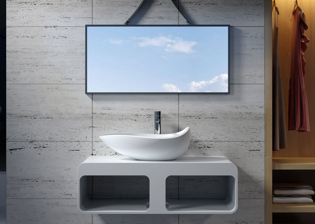 plan de toilette sdk52 vasque design sdv20. Black Bedroom Furniture Sets. Home Design Ideas