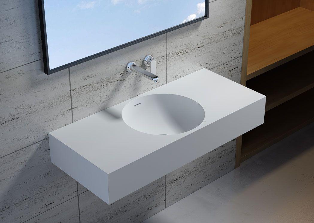 lave mains suspendu moul en fonte min rale sdpw76. Black Bedroom Furniture Sets. Home Design Ideas