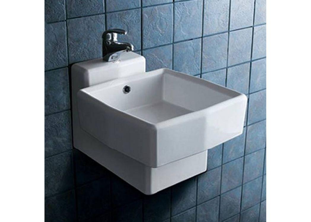 lave main original en c ramique lavabo pour wc suspendu. Black Bedroom Furniture Sets. Home Design Ideas