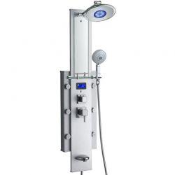 Colonne de douche hydromassante multifonction V-746-351-D miroir intégré