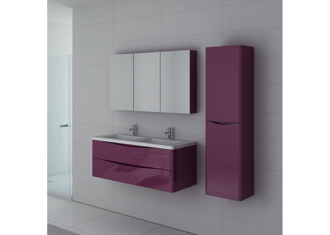 meuble 2 vasques aubergine ensemble de salle de bain couleur aubergine ref trevise au. Black Bedroom Furniture Sets. Home Design Ideas