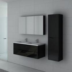 Meuble salle de bain noir laqué TREVISE