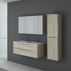Meuble de salle de bain double vasque TREVISE Scandinave