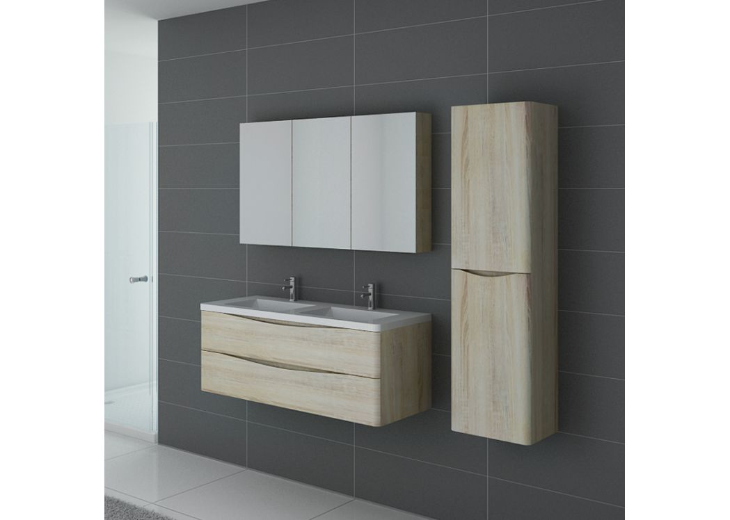 meuble 2 vasques couleur bois ensemble de salle de bain. Black Bedroom Furniture Sets. Home Design Ideas