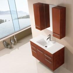 SD961CC Meuble salle de bain coloris chêne clair