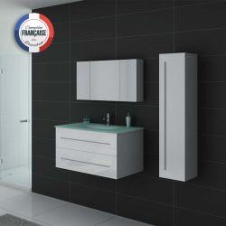 Meubles salle de bain DIS983B blanc